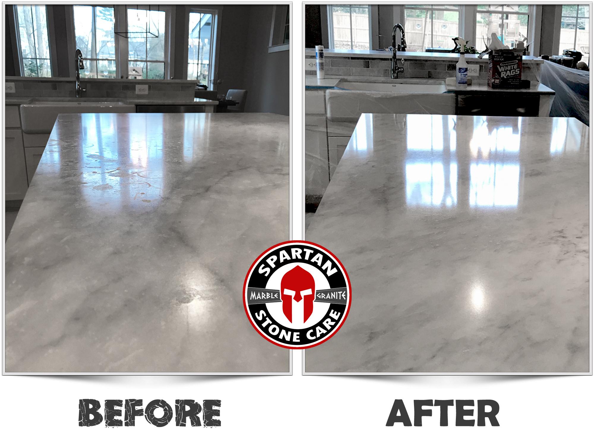 Recent Work - Marble polishing, granite countertop repair